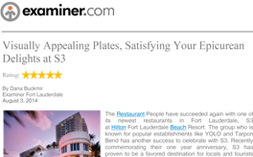 S3 – Examiner.com Dining Review