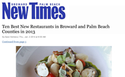S3—New Times Ten Best New Restaurants 2013