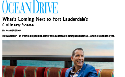 TRP—Ocean Drive Culinary Scene Profile (Jun 2014)