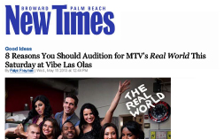 VIBE—New Times MTV's Real World