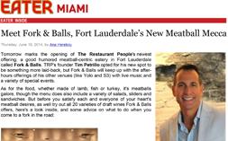 F&B – Eater Miami Meatball Mecca