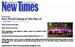 VIBE—New Times Real World Casting At Vibe