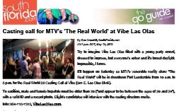 VIBE – SouthFlorida.com Casting MTV