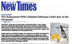 YOLO New Times Best Mimosa Spots 08.23.13