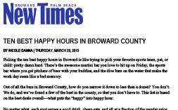 YOLO New Times Ten Best Happy Hours 03.26.15